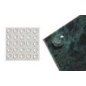 289 x 1/4 dia Clear Protector Pads per sheet